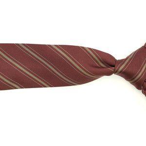 Kiton Napoli Silk Neck Tie Brownish Red/Gray